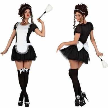 Sexy dienstmeisje verkleed verkleedkleding/jurkje voor dames