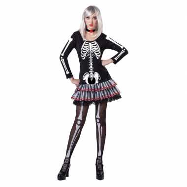 Skelet verkleed verkleedkleding voor dames