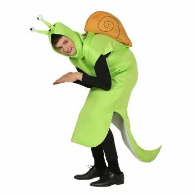 Slak verkleedkleding groen voor volwassenen