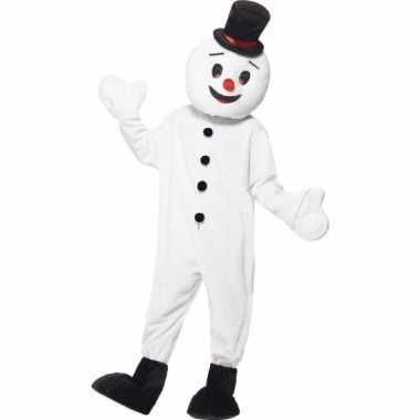 Sneeuwpop mascotte verkleedkleding