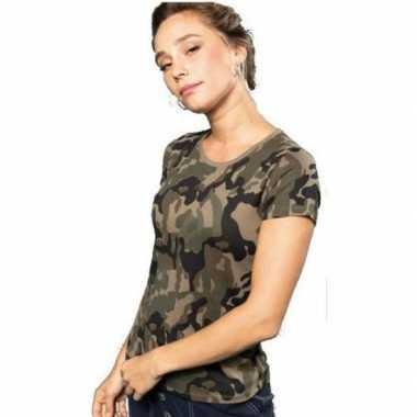 Soldaten / leger verkleedkleding camouflage shirt dames