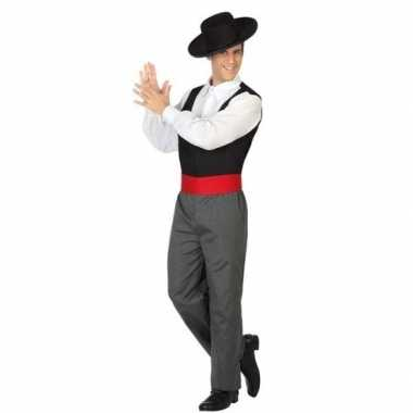 Spaanse flamencodanser verkleed verkleedkleding voor heren