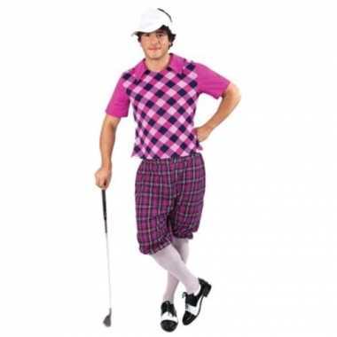 Sportieve golfers verkleedkleding voor heren