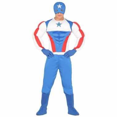 Superheld kapitein amerika verkleedkleding voor heren