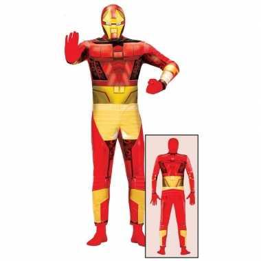 Superheld metalen man verkleedkleding voor volwassenen