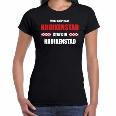 Tilburg/kruikenstad carnaval verkleedkleding / t shirt zwart dames