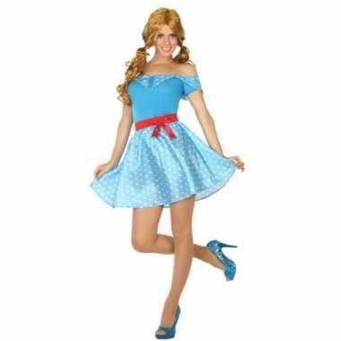 Toppers jaren 50 verkleed verkleedkleding/jurkje voor dames