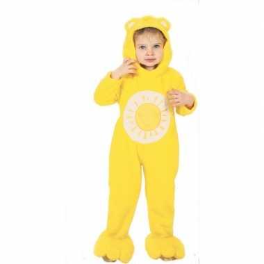 Troetelberen verkleedkleding geel voor kinderen