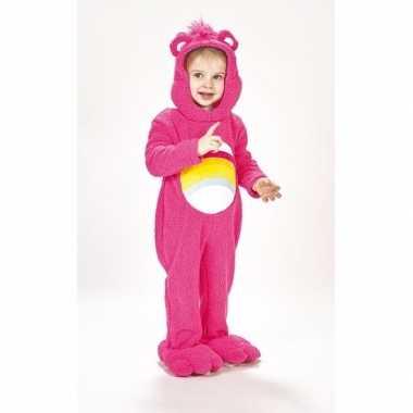 Troetelberen verkleedkleding roze voor meisjes