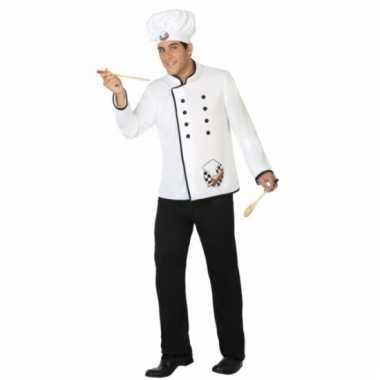 Verkleed verkleedkleding kok voor heren