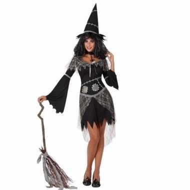 Verkleed verkleedkleding zwarte heks