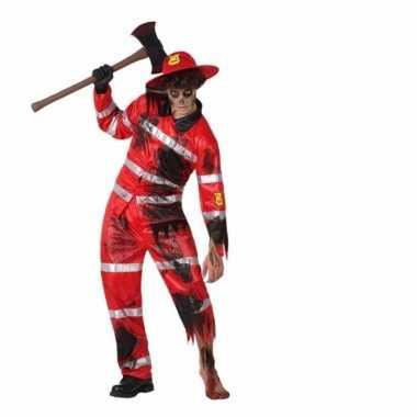 Verkleedkleding brandweer zombie
