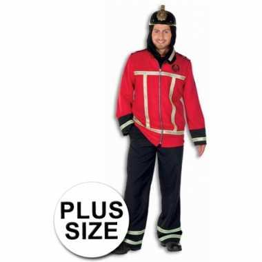 Verkleedkleding brandweerman grote maat