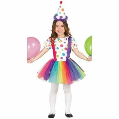 Verkleedkleding clownsjurk voor kinderen