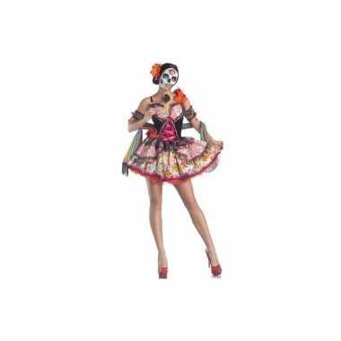 Verkleedkleding day of the dead senorita jurk
