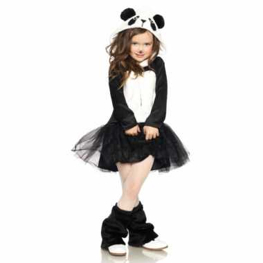 Verkleedkleding panda jurkje voor meisjes