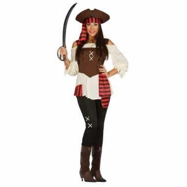 Verkleedkleding piraat dame plus size