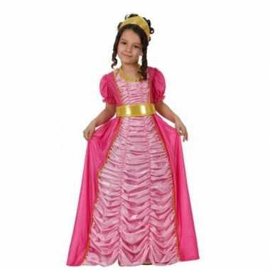 Verkleedkleding prinses roze voor meisjes