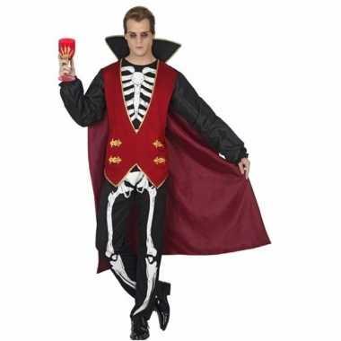 Verkleedkleding vampier met skelet opdruk