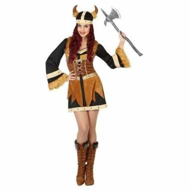 Viking verkleed verkleedkleding/jurk voor dames