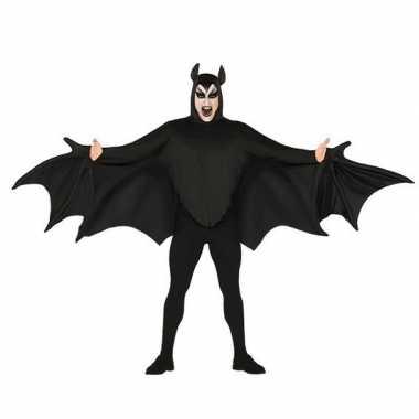 Vleermuis verkleed verkleedkleding zwart voor heren