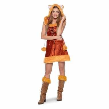 Vos dierenverkleedkleding jurkje voor dames