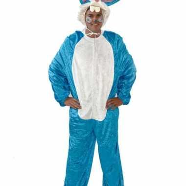 Vrijgezellenfeest verkleedkleding blauw konijn