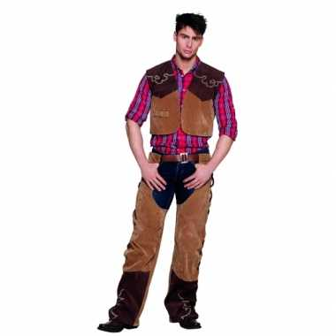 Wild west cowboy verkleedkleding bruin