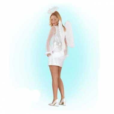 Wit engelen verkleedkleding voor vrouwen