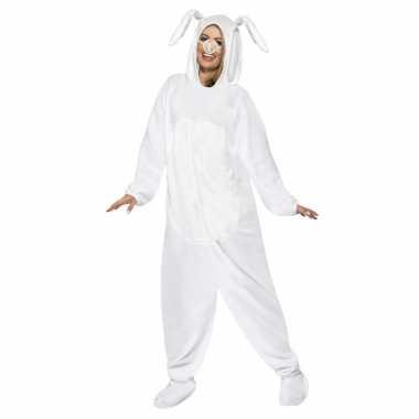 Wit konijn/haas verkleedkleding voor volwassenen