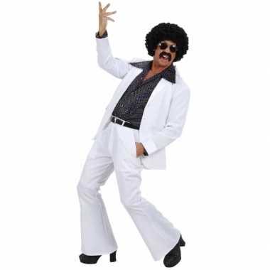 Witte disco verkleedkleding voor heren