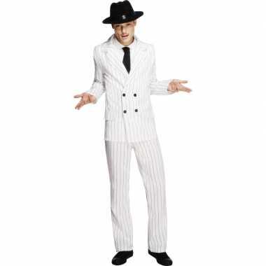 Witte gangster verkleedkledings voor mannen