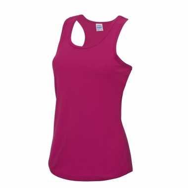 Yoga verkleedkleding roze dames sport top