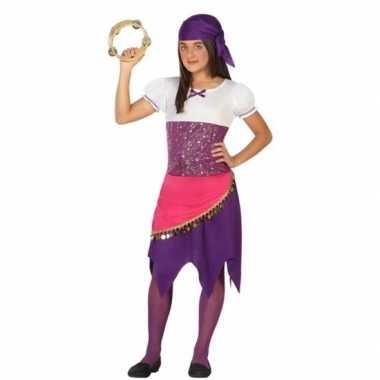 Zigeunerin esmeralda verkleedkleding voor meisjes