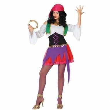 Zigeunerin verkleedkleding 3 delig voor dames