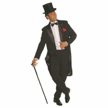 Zwart heren verkleedkleding broek en jas
