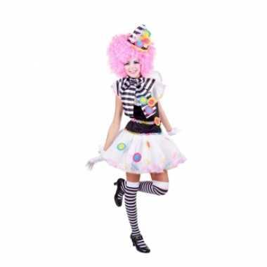 Zwart witte clown verkleedkledings voor dames