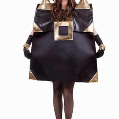Zwarte handtas verkleedkleding voor dames