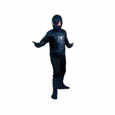 Zwarte spiderheld kinderverkleedkleding