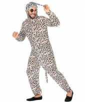 Dierenpak verkleed verkleedkleding dalmatier hond voor volwassenen