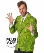 Grote maten verkleedkleding heren maatpak gras