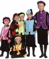 Luxe zwarte pieten verkleedkleding voor kinderen 10036513