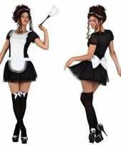 Sexy dienstmeisje verkleed verkleedkleding jurkje voor dames